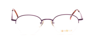 Semi-rimglasses in Pantoform for ladies in fresh purple