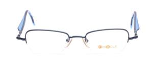 Halbrandbrille in Blau mit blauen Acetatbügeln