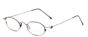 Noble featherlight flat octagonal stainless steel spectacle frame of the 1990s