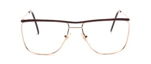 80s metal frame in gold with brown-black patterned top bar and temples