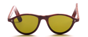 A classic celluloid sunglasses with two small round decorative rivets on the side