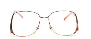 Pretty ladies metal frame with low set, slightly curved temples