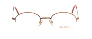 Half rimless metal frame in antique gold in a good portable size