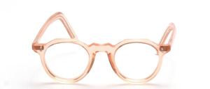 A classic, slightly smaller Panto acetate eyewear frame with <br /> long temples