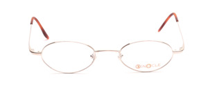 Oval metal frame in light silver in simple design