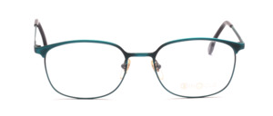 Men's frame in metal brushed in turquoise