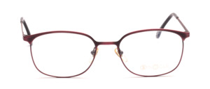 Men eyeglasses frame made of metal brushed in burgundy
