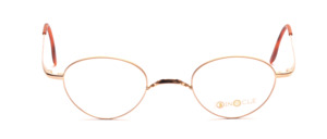 Small python Frame in gold with W-bridge and slightly flared temples