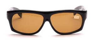 Attraktive, schöne Herren  Sonnenbrille<br /> Farbe: Glänzend schwarz<br /> Scheiben: Braun mineral, 100 % UV- Schutz