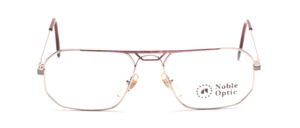 Smaller men's Frame in silver with purple patterned decoration on the front