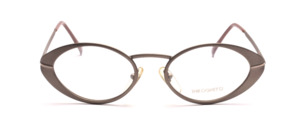 Steel gray women's frame made of metal with a slightly wider rim
