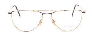 Metal frame in gold with discreetly colorful design for men