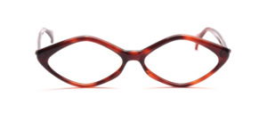 Diamond shaped acetate frame for ladies in Havana from the 60s