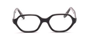 Damenfassung in leicht abgeeckter ovaler Form in Schwarz