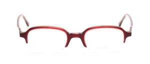 Halbbrille für Damen in transparent Rot