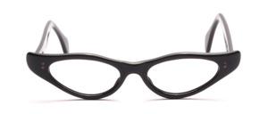 Flache 50er Jahre Brillenfassung für Damen mit ausgestellten Seiten