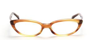 Aparte Vintage Cat Eye Brille der 1950er Jahre in Hellbraun