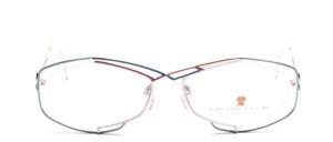Hübsche Metall Nylon Brillenfassung in ausgefallenem Graffity Design