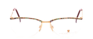 Elegant, half rimless ladies eyeglass frame