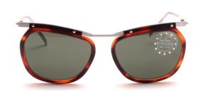 Federleichte Aluminium Sonnenbrille mit havannabraunem Kunststoff