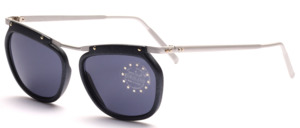 Feather-light aluminum sunglasses with matt gray plastic edges