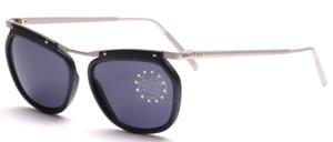 Federleichte Aluminium Sonnenbrille mit matt grauen Kunststoffrändern