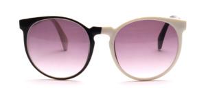 Große Pop Art, panto Sonnenbrille in Schwarz Weiß Optik