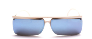 Sportliche, halb randlose Sonnenbrille