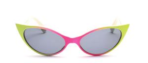 Hübsche, kleinere  Retro 50er Jahre Sonnenbrille in spitzer Schmetterlingsform
