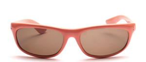 Sporty, curved sunglasses in unisex design