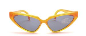 Schicke breite Schmetterlings Sonnenbrille aus den 80er Jahren