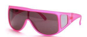 Poppige große Sport Panorama Sonnenbrille mit Seitenschutz an den breiten Bügeln