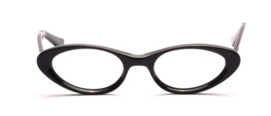 Vintage 60er Jahre Damenfassung aus Acetat in Schwarz in leichter Cat Eye Brille