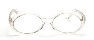 Schön geschwungene ovale Damenbrille aus den 60er Jahren in Transparent<br /> Hersteller unbekannt<br /> Mod