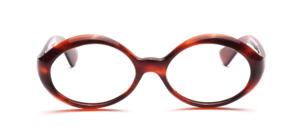 Schön geschwungene ovale Damenbrille aus den 60er Jahren in Dunkelbrau<br /> Hersteller unbekannt<br /> Mod