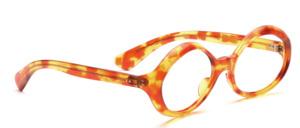 Schön geschwungene ovale Damenbrille aus den 60er Jahren in Braun gemustert