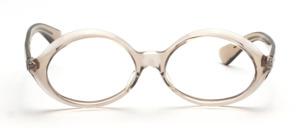 Schön geschwungene ovale Damenbrille aus den 60er Jahren in Braun Transparent<br /> Hersteller unbekannt<br /> Mod