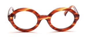 Kräftige ovale Damenbrille in dunklem Havanna aus den 70er Jahren