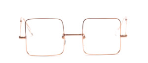 Unusual glasses from the 60s in square with chased nose bridge