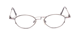 Oval metallic glasses for women in Aniksilber with purple color accents