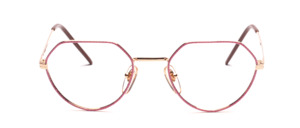 Top snatched 80s gold Frame with a pink rim