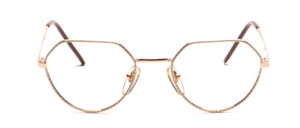 The top of the 80s snuffed Frame in gold with a white glass rim