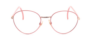Feminine python Frame made of metal with chiselled nose bridge and with glass rim and temples in pink