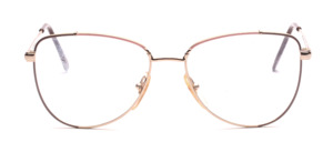80s ladies' Frame in gold with a pink and gray decorated glass rim