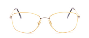 80s bi-color Frame for ladies in gold with silver bridge and silver cheeks