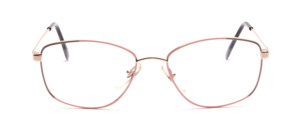 80s ladies' Frame for ladies in gold with decor in front in pink and gray