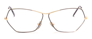 Ladies frame in gold with a glass edge partly painted in black