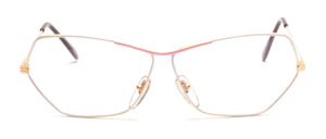 Ladies frame in gold with a rim in white and pink lacquered