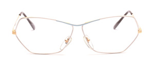 Ladies frame in gold with a rim in white and light blue painted