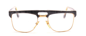Goggles for men in gold with a gray marbled upper edge and ironing